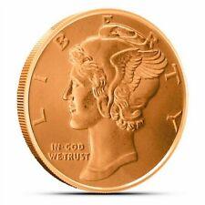 Mercury Dime, 1 oz Copper BU Coin, .999 copper, Made in USA, Flashy and Nice!