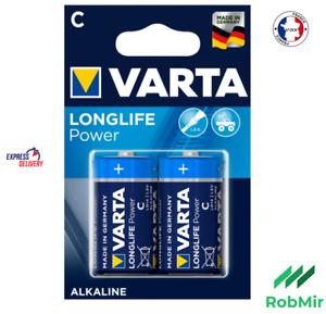 2 Piles VARTA LR14 C Alcaline 1.5 V Battery batería
