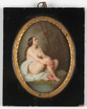 """""""Beautiful bather"""", KMP? porcelain painting, 2.H. of the 19th century"""
