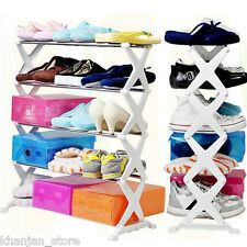 New 5 Tier Foldable X Shaped Shoe Rack - 15Pairs - As seen on TV