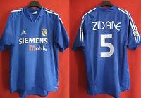 Maillot Adidas Real Madrid Zidane shirt jersey camiseta 2004 third Vintage - L