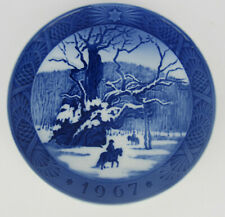 More details for 1967 royal copenhagen christmas plate, 'the royal oak', one of several listed
