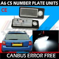 * x2 Audi RS4 A4 B5 A6 RS6 Avant LED License Number Plate Light Error Free Units