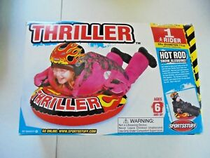 "Sportstuff 28"" Thriller Hot Rod Snow Tube Inflatable NEW Toy"