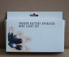 Battery Operated Indoor 10 Mini LIght Set by Christmas House    NEW