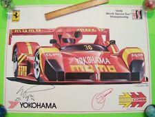 SIGNED MAX PAPIS & DIDIER THEYS 1996 FERRARI / MOMO IMSA SPORTSCAR RACE POSTER