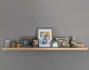 Wall Mounted Picture Ledge Shelf - 5 Feet (Natural)