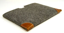 DELL XPS 15 felt with leather corners sleeve case - UK MADE - LASER CUT