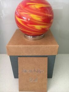Hand blown Glass Friendship Ball for your Mum  Red And Yellow 071M