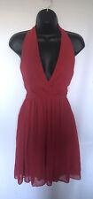 Mini Vestido Asos auto-Cuello Halter Rojo Talla 8-12