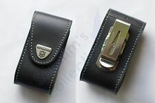 Victorinox Pouch 84-91 mm, 4.0521.31 Black Leather Swiss Army Folding Knife