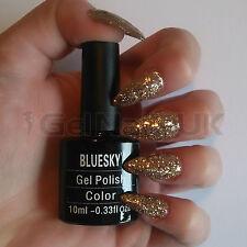 Bluesky KS1049 Luxury Gold UV/LED Soak Off Gel Nail Polish 10ml Free Postage