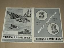 Prospectus Moteur BERNARD W10 à W14 Non daté  Motor Tracteur traktor brochure