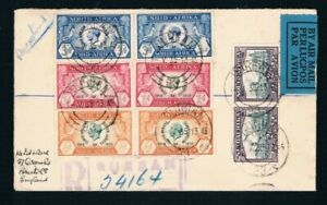 1935 Silver Jubilee South Africa 1,3,6d,pairs on FDC see description