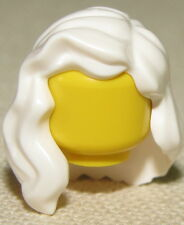 LEGO NEW WHITE FEMALE HAIR OVER SHOULDER GIRL WIG PIECE