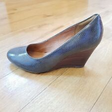 Clarks Artisan Heels Wedges Fake Snake Skin Grey Brown UK 6 D Slip On Smart
