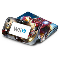 Skin Decal Cover for Nintendo Wii U Console & GamePad - Iron Man Superhero