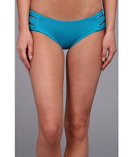 VITAMIN A SWIMWEAR CHLOE TRIPLE BRAIDED SIDE BOTTOMS PANTS BLUE XSMALL NEW! $92