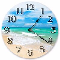 "10.5"" PRISTINE GREEN BLUE OCEAN CLOCK - Large 10.5"" Clock - Home Décor - 3221"