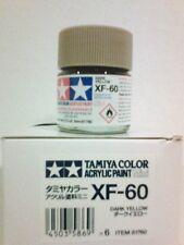 Tamiya acrylic paint XF-60 Dark yellow. 10ml Mini.