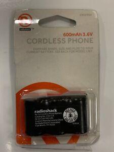 RADIO SHACK 2302354   CORDLESS PHONE BATTERY  600MAH 3.6v NI-CD