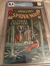 Marvel Comics AMAZING SPIDER-MAN #33 CGC 8.5 (1966) RARE White Pages