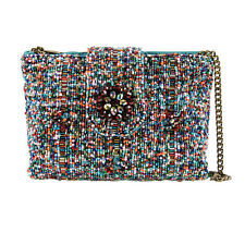 Mary Frances Carnival Clutch Multi Gunmetal Mini Beaded Handbag Purse Bag New