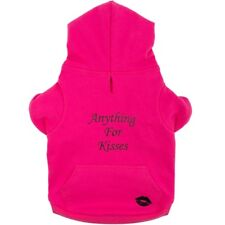 Ancol Pink 'anything for Kisses' Dog Puppy Hoodie Sweatshirt 4 Sizes Xmas Gift Medium 40cm