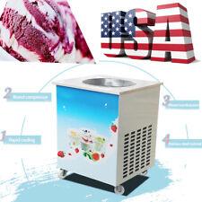 Single Pan 36cm Commercial Fried Ice Cream Roll Machine Milk Yogurt Maker Making