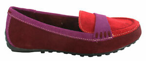 Hush Puppies Womens Dalby Moccasins Red Suede Moc Toe Slip On Shoes H507000 D22