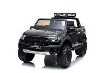 Babycar Ford Raptor Ranger 12V Nera Auto Per Bambini Con Telecomando