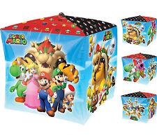 Super Mario Party Supplies CUBEZ SHAPE Foil Balloon Helium Anagram Licensed