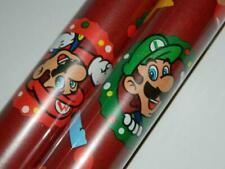 Super Mario Bros Gift Wrap Xmas Bowser Princess Peach Wrapping Paper 2 Rolls New