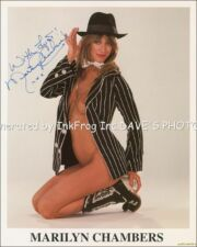 SEXY RP Signed Marilyn Chambers Color 8X10 RP Photo  w/coa Free Shipping