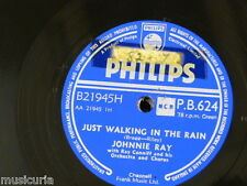 78rpm JOHNNIE RAY just walking in the rain / in the candlelight