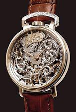 Alta fino reloj Hombre, mano grabado, eta 6497, unitas