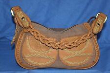 Handtasche Nicoli Riemen geflochten braun seht guter Zustand