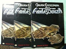 Grande enciclopedia della Fantascienza TRE VOLUMI Ed. Del Drago 1980