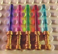 5 Stück NEUE LEGO Laserschwerter (grün, blau, rot, violett, pink)  10