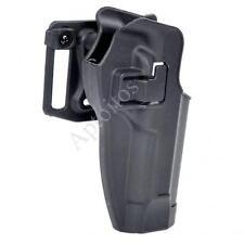 Beretta M92/M95 Tactical Military Pistol Holster & Waist Clip (Black)