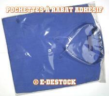 100 Pochettes Sachets plastique rabat adhesif 220 x 350 mm - polypropylène 40mic