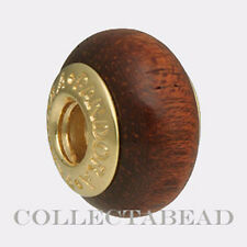 Authentic Pandora 14K Gold Muirapiranga Wood Bead 750707 *Retired*