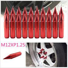 20 x Red Spiked Aluminium Alloy Car SUV Wheel Hub Nuts Tire Screw Lugs M12XP1.25