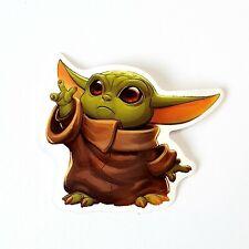 2x Baby Yoda Stickers Cute Star Wars Themed Sticker Mandalorian