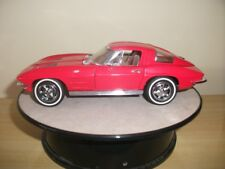Franklin Mint 1963 Chevrolet Corvette with New  Display Case 1:24 Red