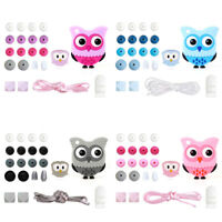 Owl Silicone Beads Teether DIY Baby Sensory Teething Necklace Jewelry Toys Make