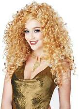Disco Diva Do Dirty Blonde Women Wig Accent 70's Disco Long Volum Curly Style