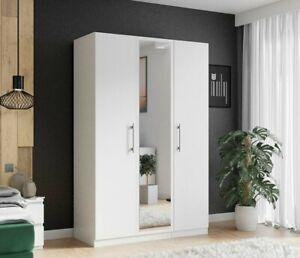 Kleiderschrank Orion 3D Garderobe Mit Spiegel Kollektion Garderobenschrank M24