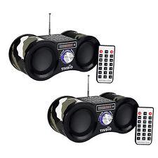 2 * FM STEREO RADIO DIGITAL SPEAKER LETTORE MP3 CON TELECOMANDO AUX input come