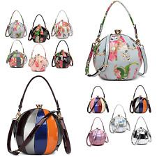 PU Patent Leather Women Fashion Top Handle Shoulder Hobo Crossbody Round Bag